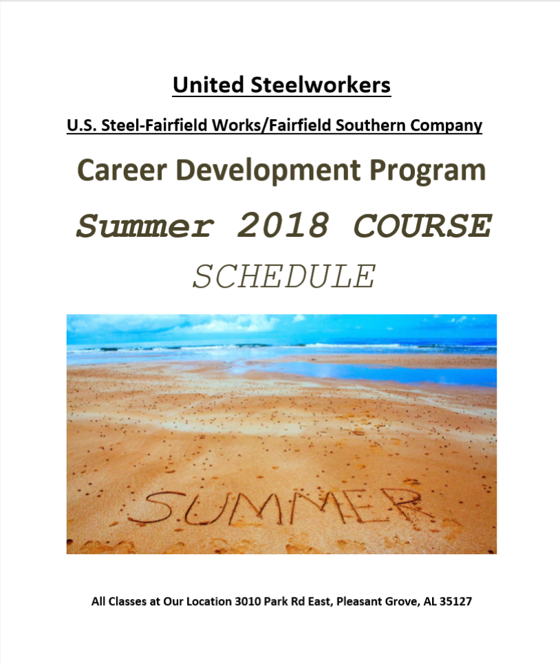 USW/U S  Steel-Fairfield 2018 Summer Catalog | Institute for